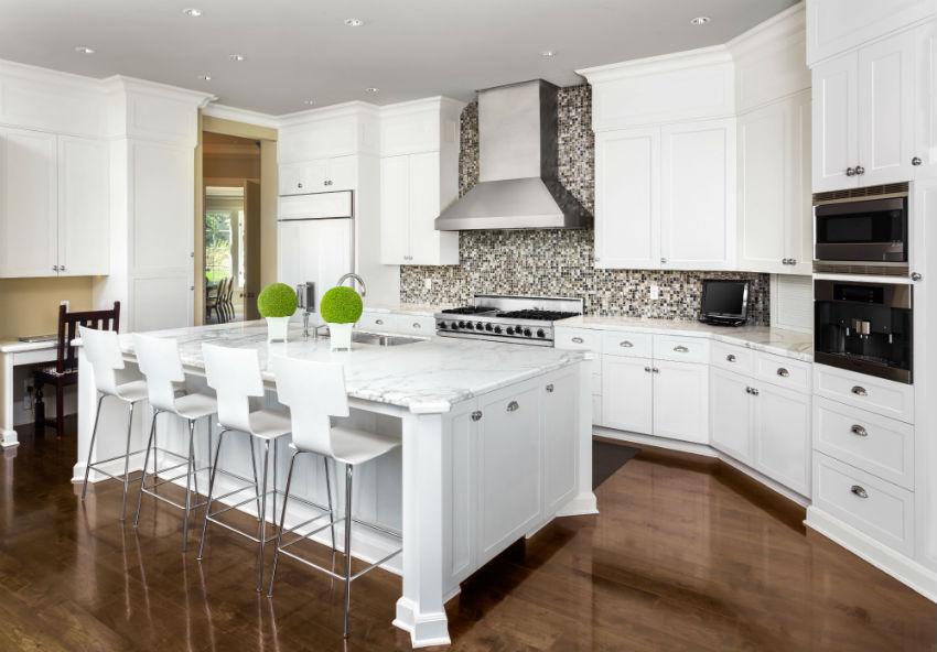 Arcadia White Shaker Kitchen Cabinets RTA