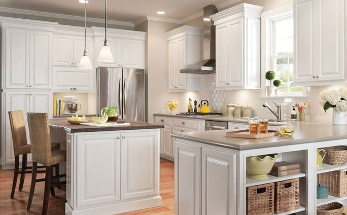 Newport White Kitchen Cabinets - Special Sale Price